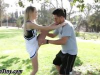 Teen cheerleader humped