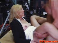 Pawnshop amateur facialized after pussyfucking