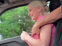 Cutie Brooke trades sex to the stranger for she will get a free lift