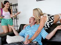 Valentina Nappi catches stepmom and bf