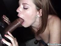 Gloryhole blowjob slut loves black cocks