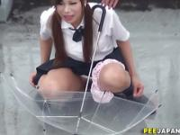 Teen asian golden shower