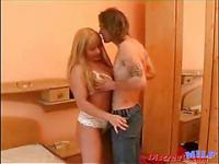 Russian MILF plays with young Russian boy