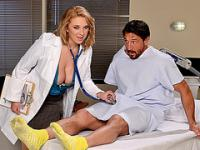 Busty doctor Brooke Wylde fucks patient