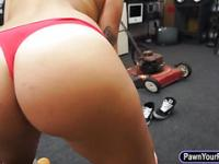Cute college girl banged at the pawn man