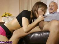 Teens cash for old guy bj
