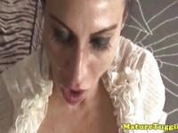 Mature latina tugging on cock pov for lucky guy