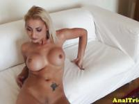 Big titted bimbo gf being ravaged in private sextape