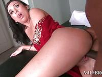 Hot MILF deep throats and humps black shaft
