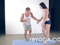 Couples Yoga Workout Ends In Anal