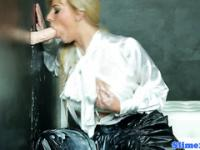 Facialized gloryhole glamour blonde in heels