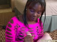 Chunky tugging ebony in awesome pov mode