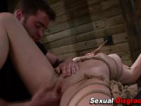 Bdsm slave throat fucked