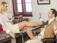 Beautiful Kathia Nobili gets banged in the office by her boss huge dick