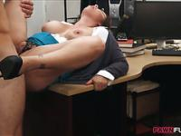 Huge boobs milf banged in the backroom
