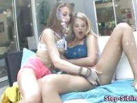 Perky teen stepsis oral