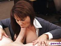 Big boobs milf pawns her pussy for money