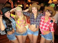 Cowgirl Bffs gets wild so fast in a bar with the guys they are with
