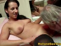 Euro clit rubbing whore