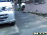 Japanese piss in street
