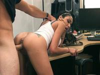 Cute latina fucked in pawn shop