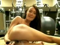 Her Pussy Gets Very Creamy Masturbating In Gym 1