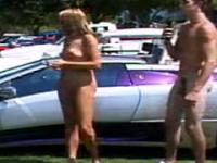 Nudist Couples Interviewed At Car Show