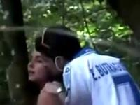 Voyeur Busts Teens Fucking In The Forest 1