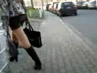 Teen In Miniskirt