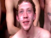 Cum covered twink fucked