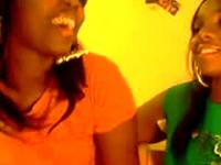 Black Lesbians Kissing On Freakbucket.com