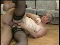 German granny is getting a cock in her ass hole