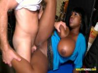 Lovely black lady Maserati gets good cocks in her pussy