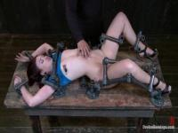 Jodi Taylor screams and moans in BDSM act