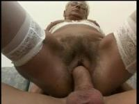 German granny is opening her mouth for a rod