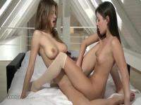 Eufrat & Ivy having a steamy girl on girl session