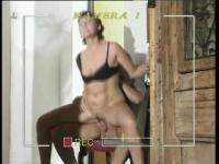 MMF pussy stretching for the horny German mum