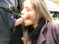 German whore enjoys in banging everywhere