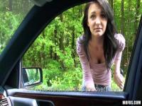 Inexperienced hitchhiker abused in a van