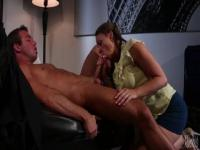 Chanel Preston likes to suck that guy's thick penis