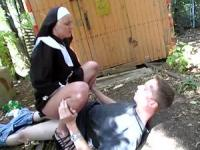 Horny nun needs sex right now