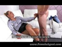 FemaleAgent - Sexy milf calms nervous stud