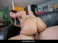 Jada Stevens showing and using her big ass
