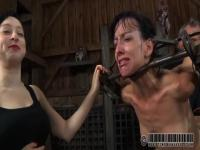 Elise Graves in hands of dirty mister and dirtier mistress