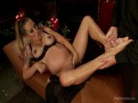 Bella Wilde will jerk massive rod with her feet