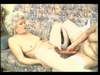 Two blonde grannies fuck young guy
