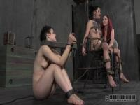Juliette Black gets tied and whipped by her master