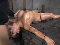 Lotus Lain gets lead to suck a big cock in BDSM game