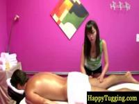 Petite Asian on top of you during massage