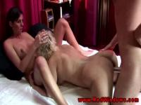 Amateur dude in a threesome with prostitutes